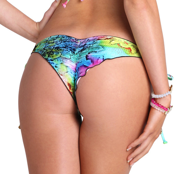 SEA SALT ANGEL - Wavey Ruched Back Brazilian Tie Side Bottom