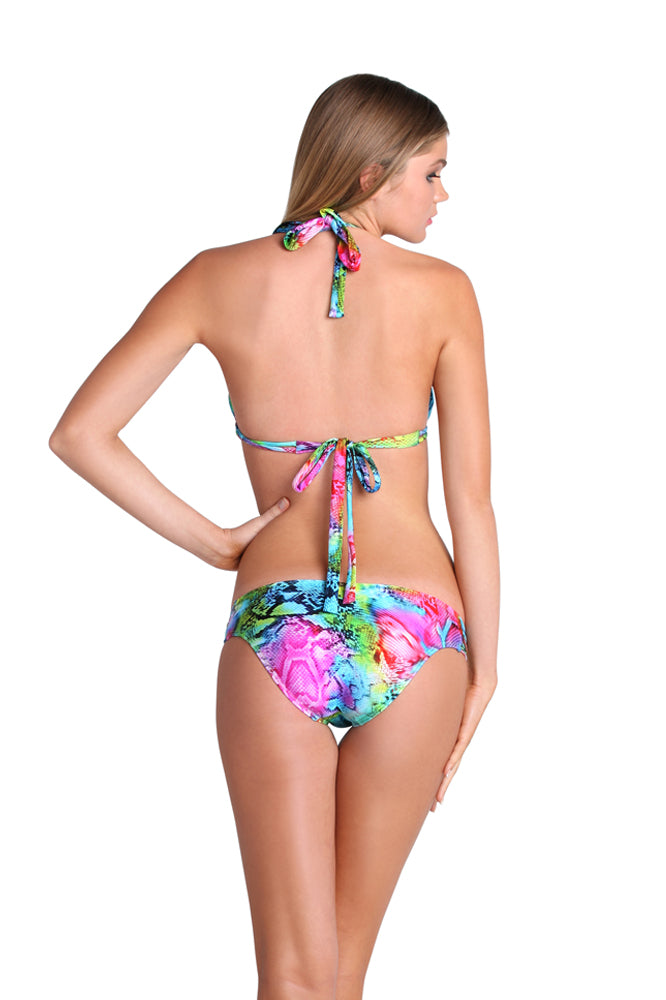 SEA SALT ANGEL - Triangle Halter Top & Multi Strings Full Bottom • Multicolor