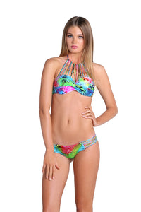 SEA SALT ANGEL - Underwire Push Up Bandeau Top & Hot Buns Bottom • Multicolor
