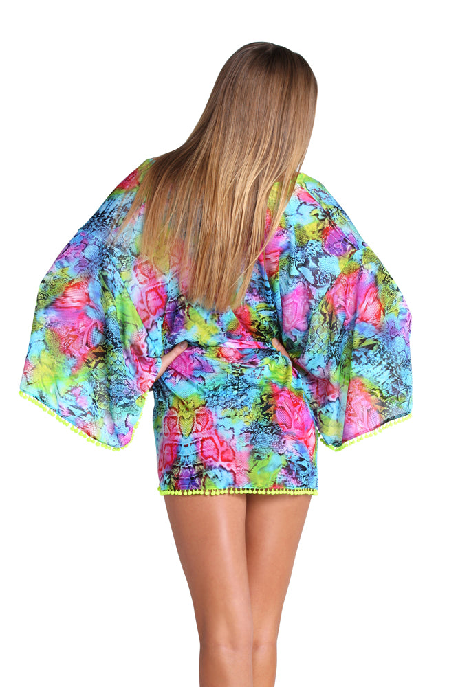 SEA SALT ANGEL - Pom Pom Kimono • Multicolor