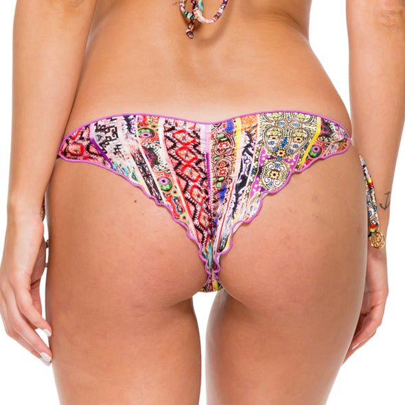 MY WAY - Wavey Ruched Back Brazilian Tie Side Bottom