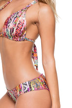 MY WAY - Triangle Halter Top & Seamless Ruched Back Full Bottom • Multicolor
