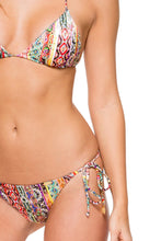 MY WAY - Triangle Top & Wavey Ruched Back Brazilian Tie Side Bottom • Multicolor