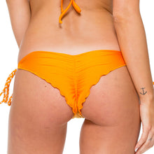 OBSESSION - Wavey Ruched Back Brazilian Tie Side Bottom