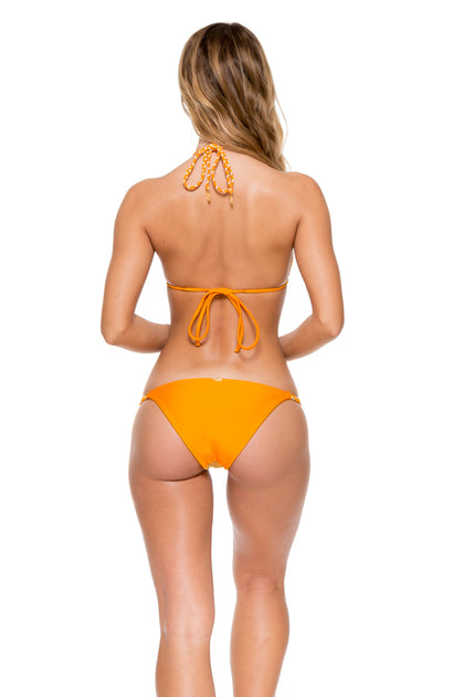 OBSESSION - Crochet Illusion Halter Top & Double Braid Moderate Bottom • Cuban Sunset