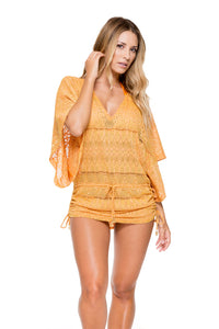 OBSESSION - Cabana V Neck Dress • Cuban Sunset (874462412844)