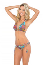 TORNASOL - Triangle Halter Top & Criss Cross Sides Full Bottom • Multicolor
