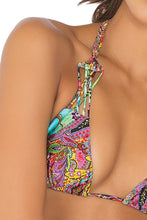 TORNASOL - Criss Cross Braided Triangle Top & Strappy Brazilian Ruched Back Bottom • Multicolor