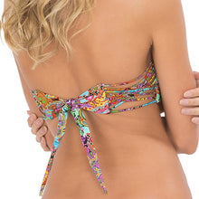 TORNASOL - Criss Cross Bandeau Top With Removable Tassel