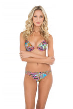 TORNASOL - Seamless Plunge Underw Push Up T & Criss Cross Sides Full Bottom • Multicolor