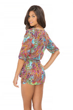 TORNASOL - Cross Front 3/4 Sleeve Dress • Multicolor