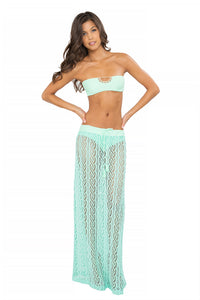 CORAZON LOCO - Crochet Open Front Bandeau & Maxi Skirt • Mint Convertible