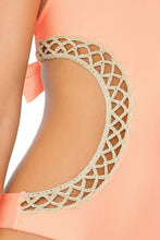 CORAZON LOCO - Crochet Cut Out Monokini • Miami Peach