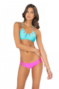 BORRACHERA DE MAR - Zig Zag Cut Out Bra & Zig Zag Open Side Moderate Bottom • Too Hot Miami