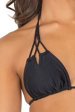 BORRACHERA DE MAR - Zig Zag Knotted Cut Out Triangle & Zig Zag Open Side Skimpy Bottom • Black