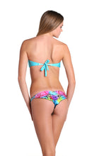 BORRACHERA DE MAR - Zig Zag Open Center Bandeau & Strappy Brazilian Ruched Back Bottom • Multicolor