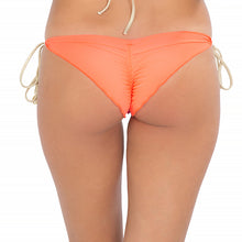 FLAMINGO BEACH - Wavey Ruched Back Brazilian Tie Side Bottom