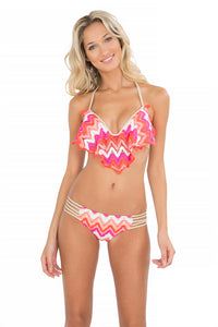 FLAMINGO BEACH - Cascade Push Up Underwire Top & Braided Side Full Bottom • Multicolor