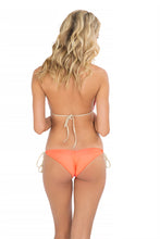 FLAMINGO BEACH - Triangle Top & Wavey Ruched Back Brazilian Tie Side Bottom • Multicolor