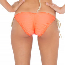FLAMINGO BEACH - Wavey Ruched Back Full Tie Side Bottom
