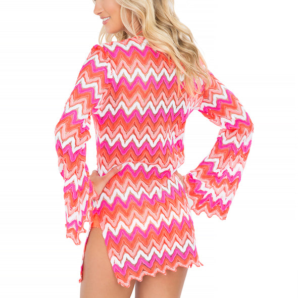 FLAMINGO BEACH - Plunge Dress