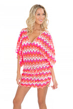 FLAMINGO BEACH - Cabana V Neck Dress • Multicolor