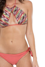 CHA CHA CHA - Isabel High Neck Top & Cayo Coco Brazilian Bottom • Multicolor