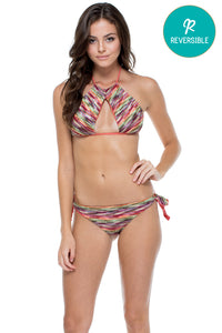 CHA CHA CHA - Isabel High Neck Top & Cayo Coco Brazilian Bottom • Multicolor (874539188268)