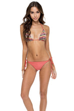 CHA CHA CHA - Triangle Top & Wavey Ruched Back Brazilian Tie Side Bottom • Multicolor