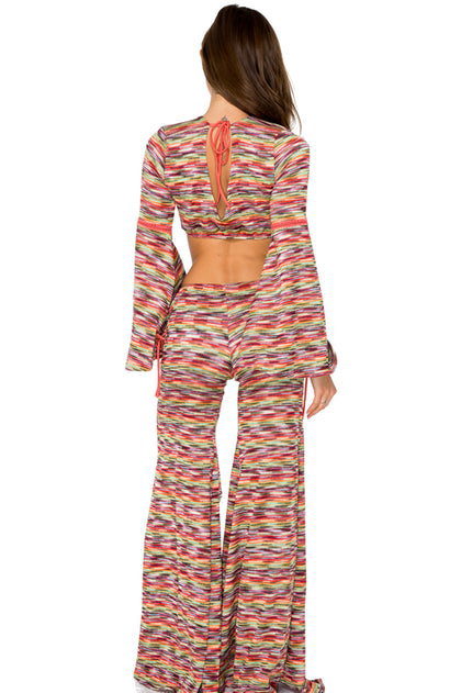 CHA CHA CHA - Cuba Libre Crop Top & Cha Cha Lace Flare Pants • Multicolor