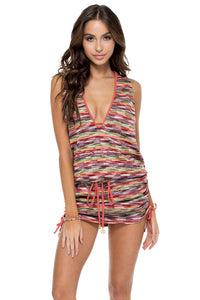 CHA CHA CHA - T Back Mini Dress • Multicolor