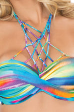 CIELITO LINDO - Underwire Push Up Bandeau Top & Hot Buns Bottom • Multicolor