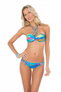 CIELITO LINDO - Underwire Push Up Bandeau Top & Hot Buns Bottom • Multicolor (865232289836)