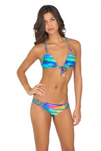 CIELITO LINDO - Knotted Net Back Triangle & Tiny Bottom • Multicolor