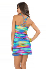 CIELITO LINDO - Knotted Net Back Sea Side Dress • Multicolor
