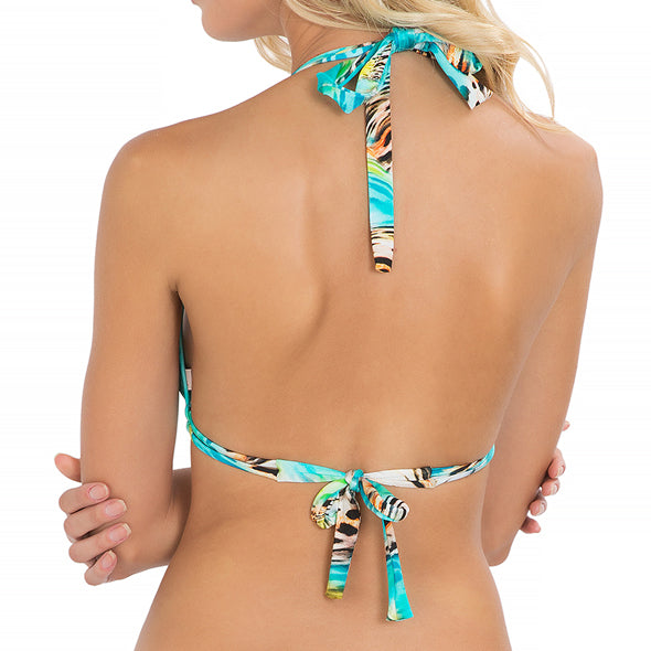 CARIBE MON AMOUR - Triangle Halter Top