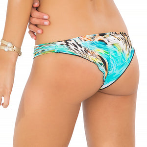 CARIBE MON AMOUR - Strappy Brazilian Ruched Back Bottom