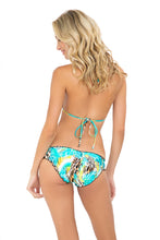 CARIBE MON AMOUR - Molded Push Up Bandeau Halter Top & Full Ruched Back Bottom • Multicolor