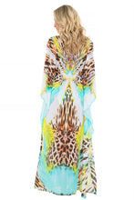 "CARIBE MON AMOUR - ""eyes On Me"" Long Caftan • Multicolor"