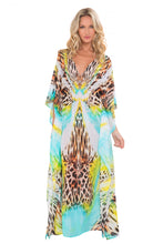 "CARIBE MON AMOUR - ""eyes On Me"" Long Caftan • Multicolor (865224589356)"