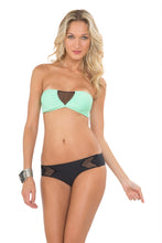 FOR YOUR EYES ONLY - V Cut Net Bandeau & Net Sides Full Bottom • Black