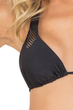FOR YOUR EYES ONLY - Net Insert Halter Top & Net Sides Cheeky Bottoms • Black