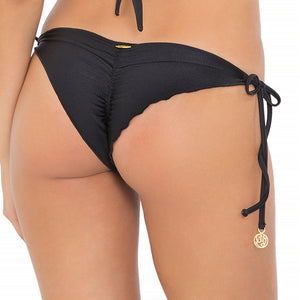 FOR YOUR EYES ONLY - Net Sides Brazilian Ruched Back Tie Side