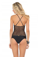 FOR YOUR EYES ONLY - Net Insert Criss Cross One Piece • Black