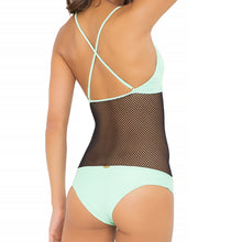 FOR YOUR EYES ONLY - Net Insert Criss Cross One Piece