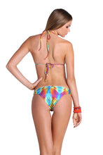 PLAYA VERANO - Salt Life Halter Top & Strappy Front Side Moderate Bottom • Multicolor