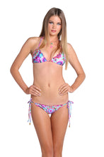 SOL BRILLANTE - Wavey Triangle Top & Wavey Ruched Back Brazilian Tie Side Bottom • Multicolor