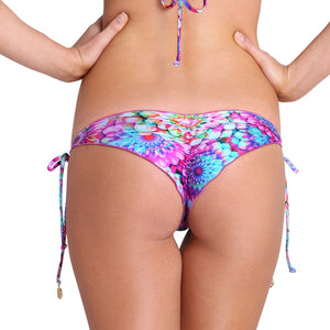 SOL BRILLANTE - Wavey Ruched Back Brazilian Tie Side Bottom