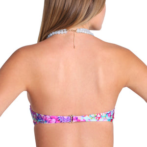SOL BRILLANTE - Underwire Push Up Bandeau Top