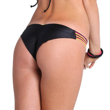 BEACH BABE - Strappy Brazilian Ruched Back Bottom